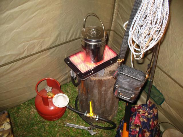Обогрев палатки зимой на рыбалке